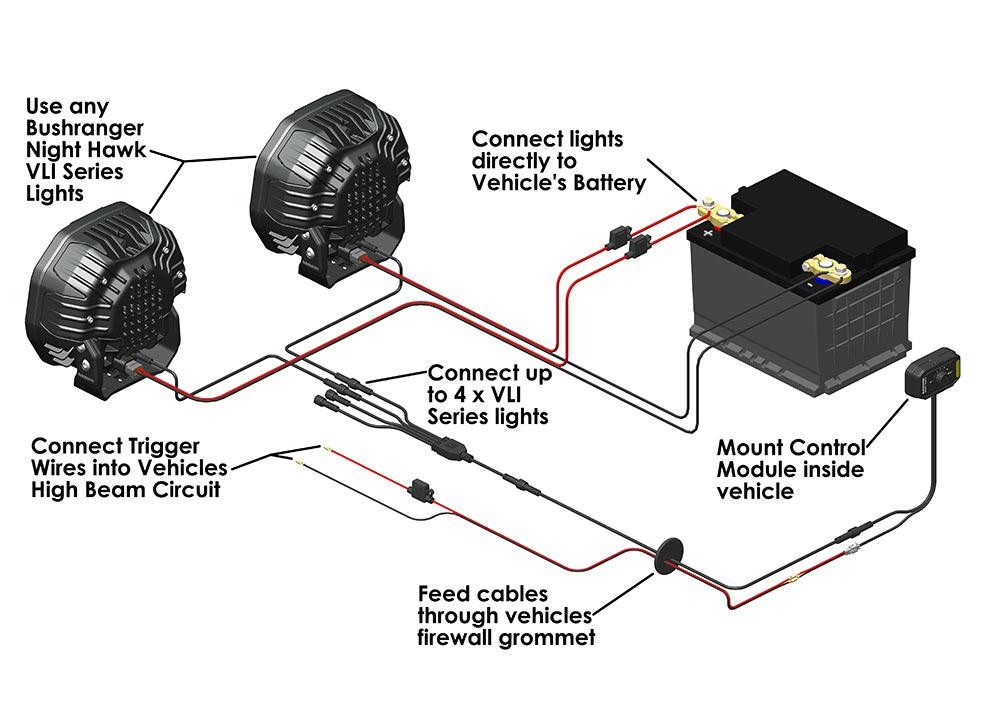 Night Hawk Vli Series Wiring System, Wiring Diagram Spotlights